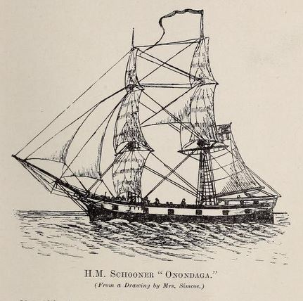 from a drawing by Elizabeth Simcoe