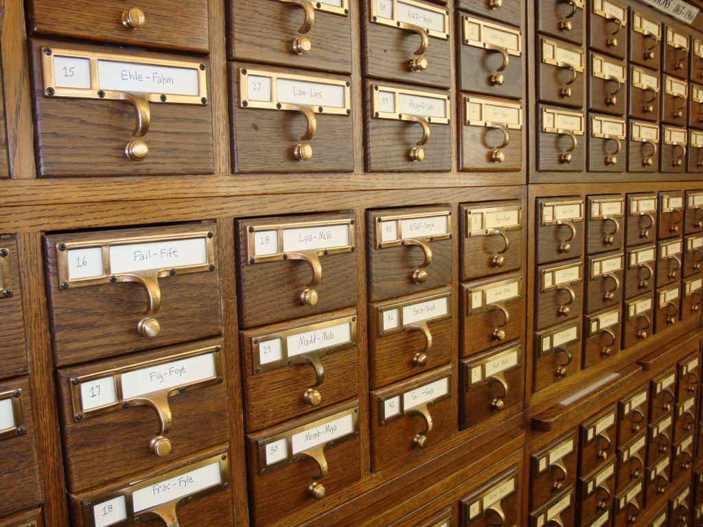 Library Card Catalogue