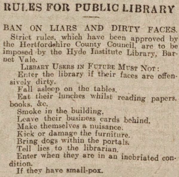 rules for public libraries