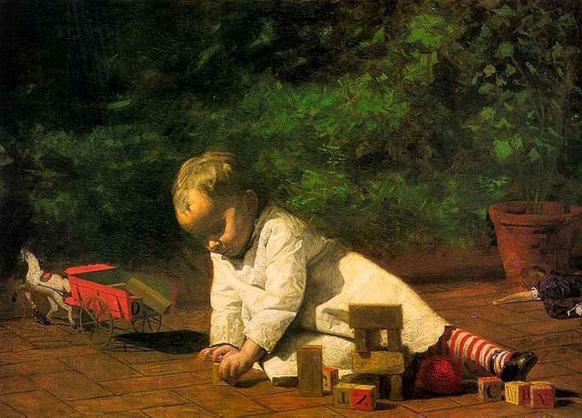 1200px-Eakins_Baby_at_Play_1876