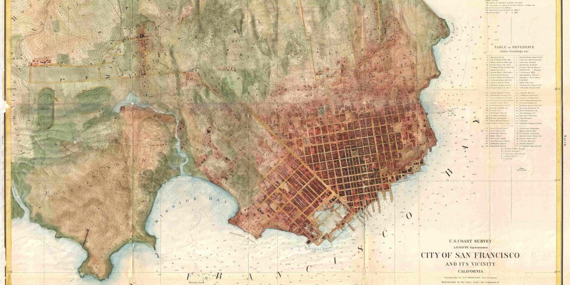 Thomas Henry Blythe's Estate - Map of San Francisco about 1858