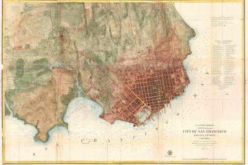 Thomas Henry Blythe's Estate - Map of San Francisco about 1858