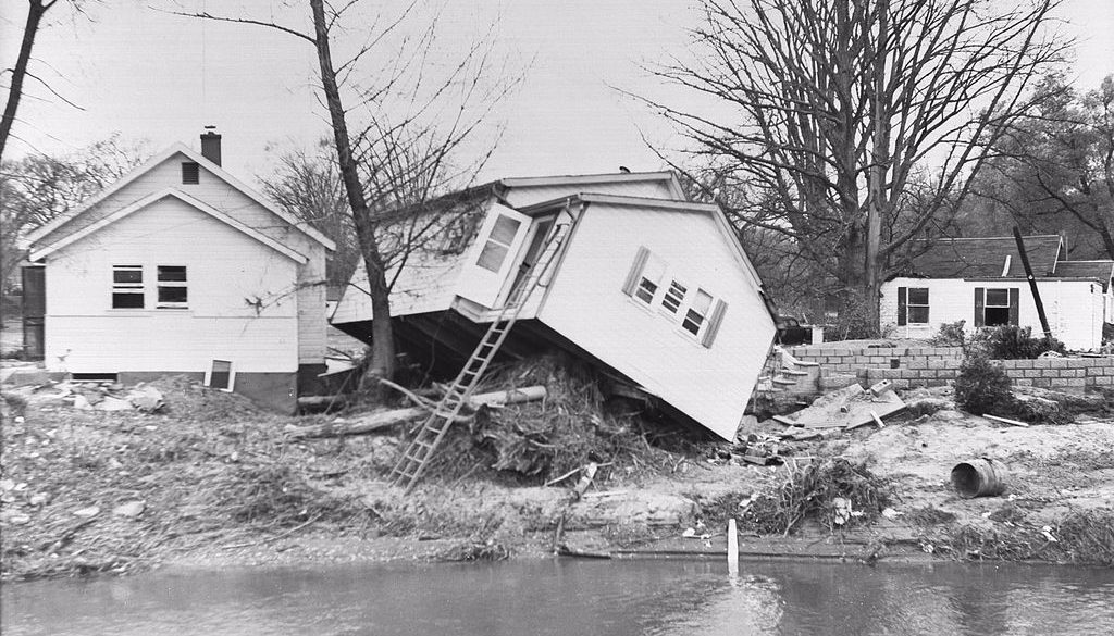 Damage from Hurricane Hazel