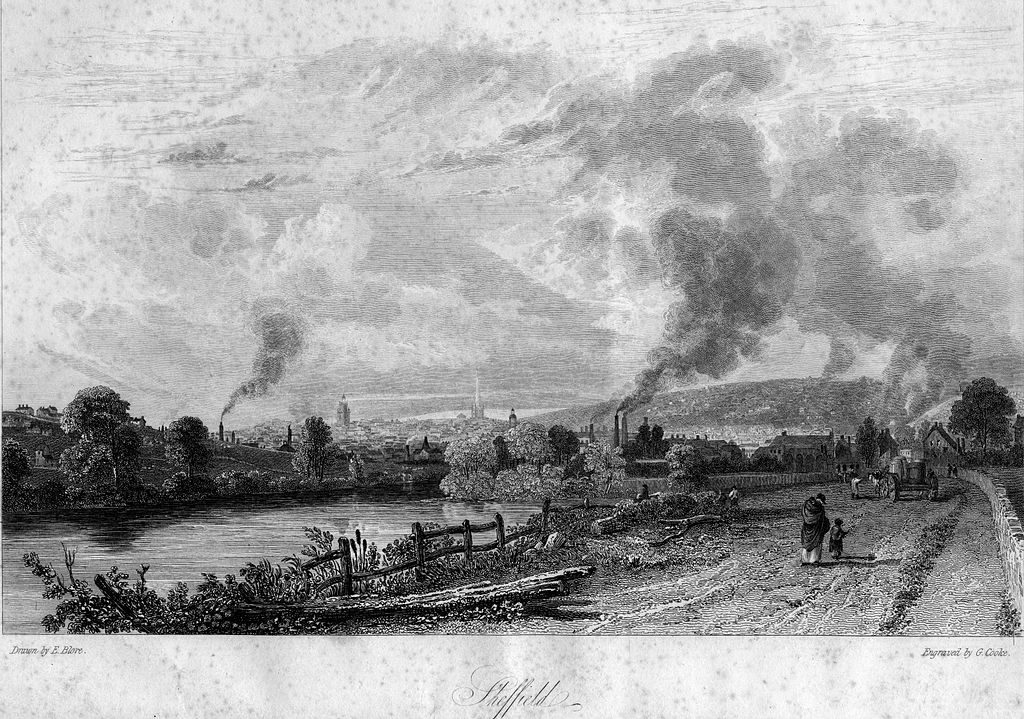 Sheffield from Attercliffe Road 1819