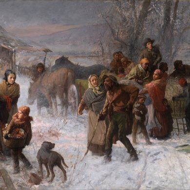 The Underground Railroad , painting by Charles T. Webber