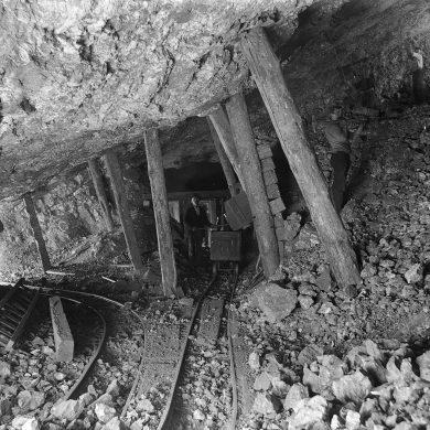 Inside an old mine