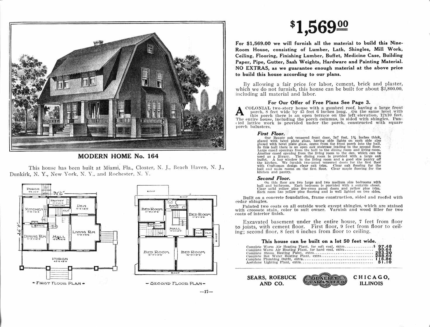 Sears roebuck mail order catalogue the social historian for House plan catalogs free
