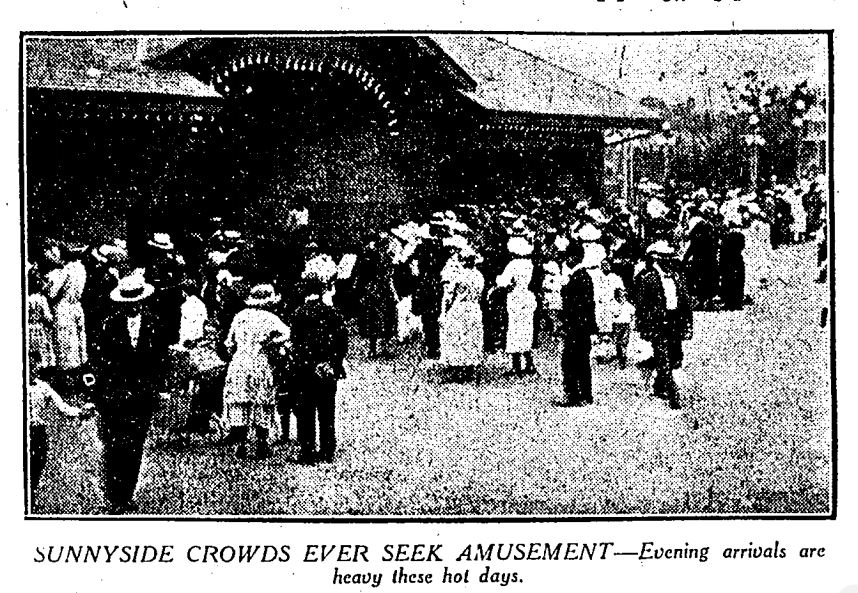 Crowds thronged to Sunnyside on hot August evenings in 1922