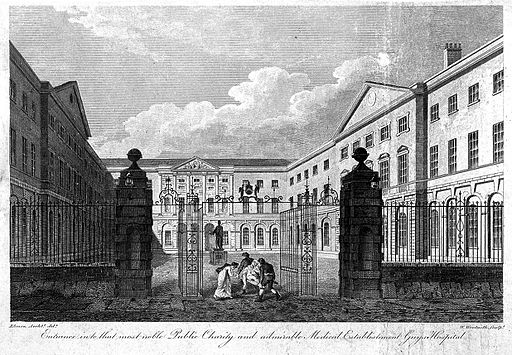 Guys_Hospital_Southwark_courtyard_1799_engraving_Wellcome_L0005809