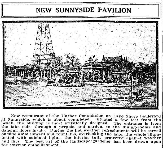 New Sunnyside Pavilion 7June1921