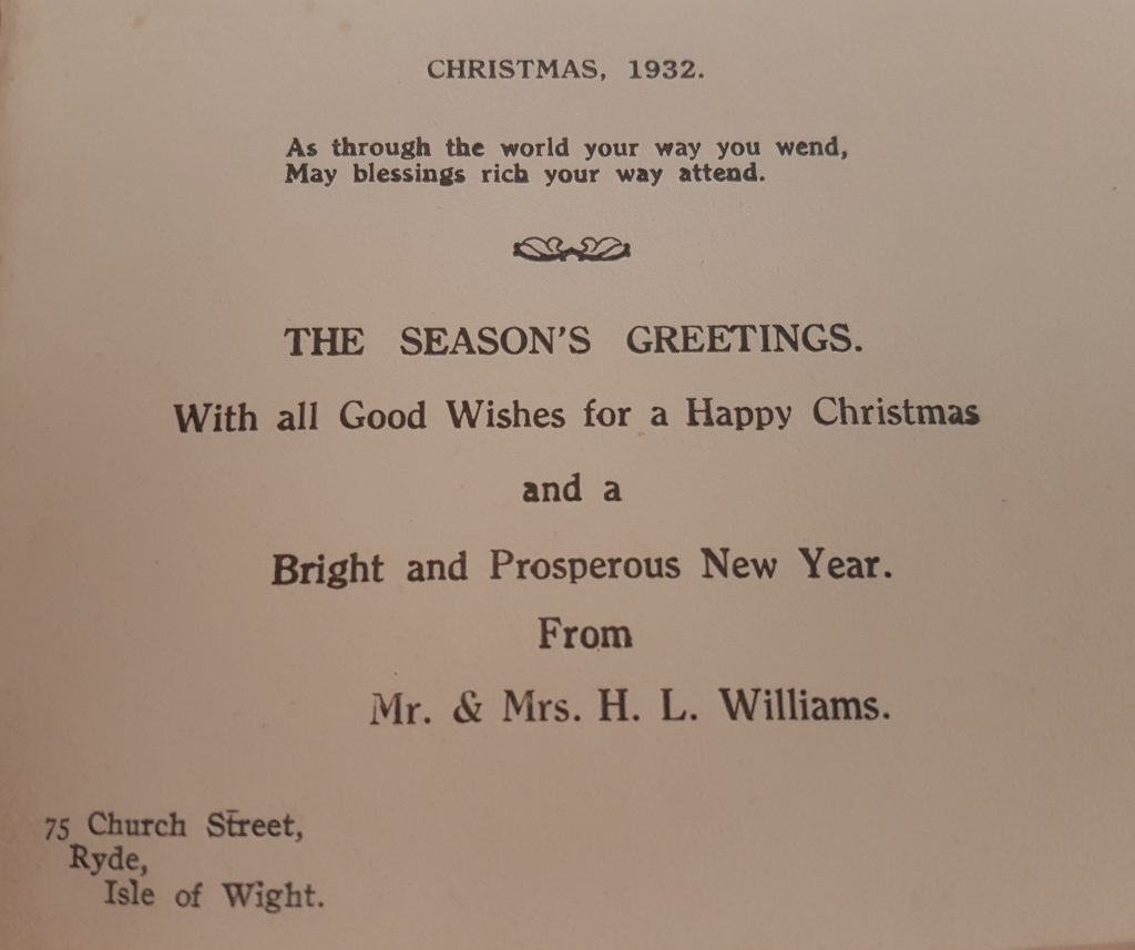 Christmas Card from the IOW