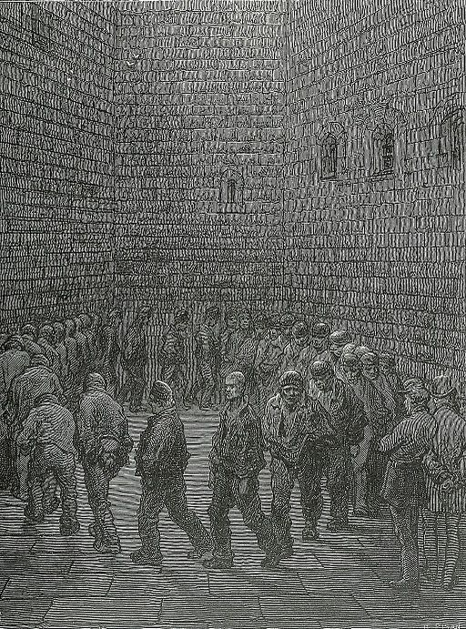 Newgate prison exercise yard