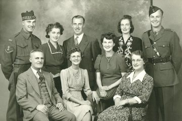 Brown Family about 1943