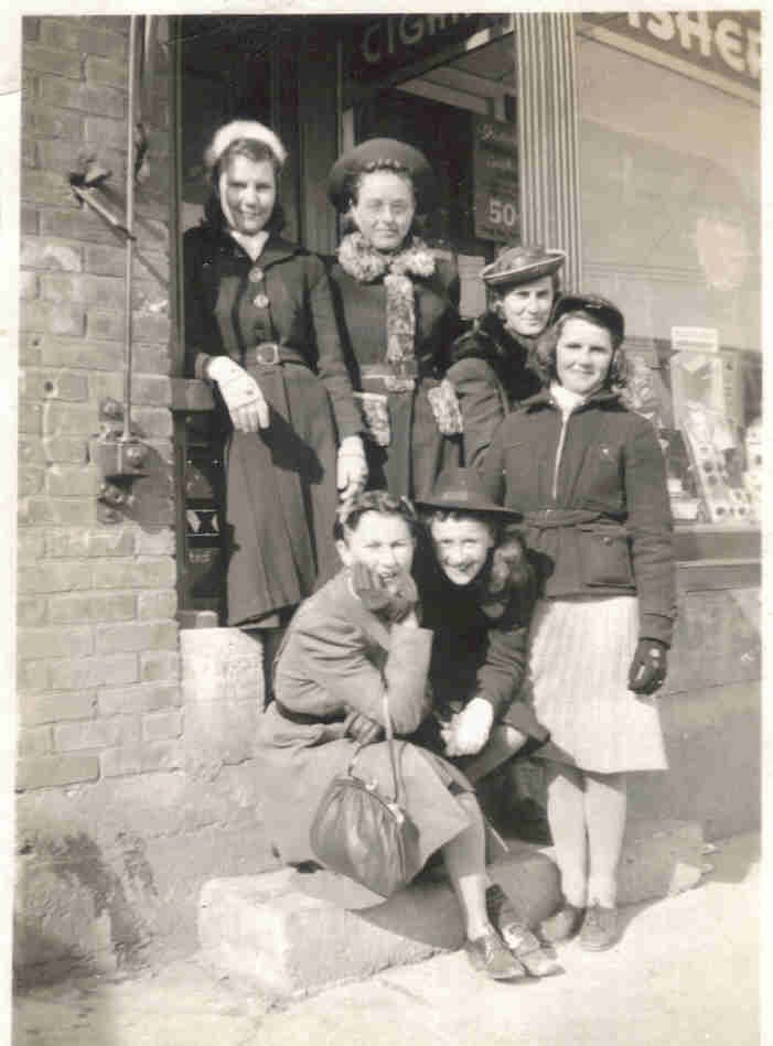 Jean Brown and Friends. New Liskeard circa 1937.